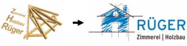 Neues Logo der Zimmerei Holzbau Rüger